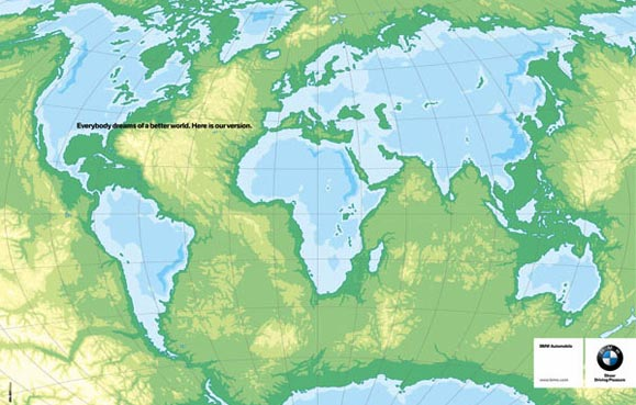 Joe La Pompe Advertising Publicite Inverted World Map Plan Plan