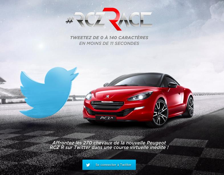 RCZ Tweet Race