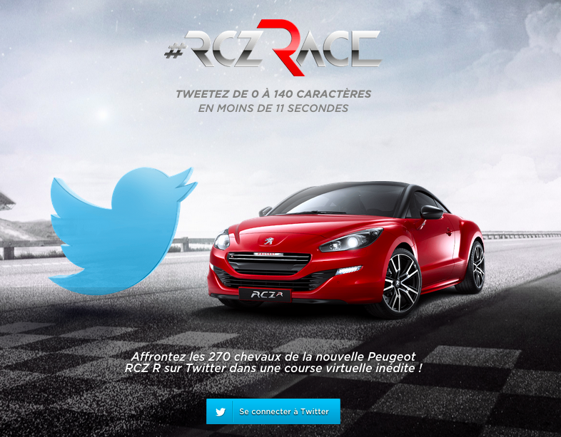 RCZ Tweet Race