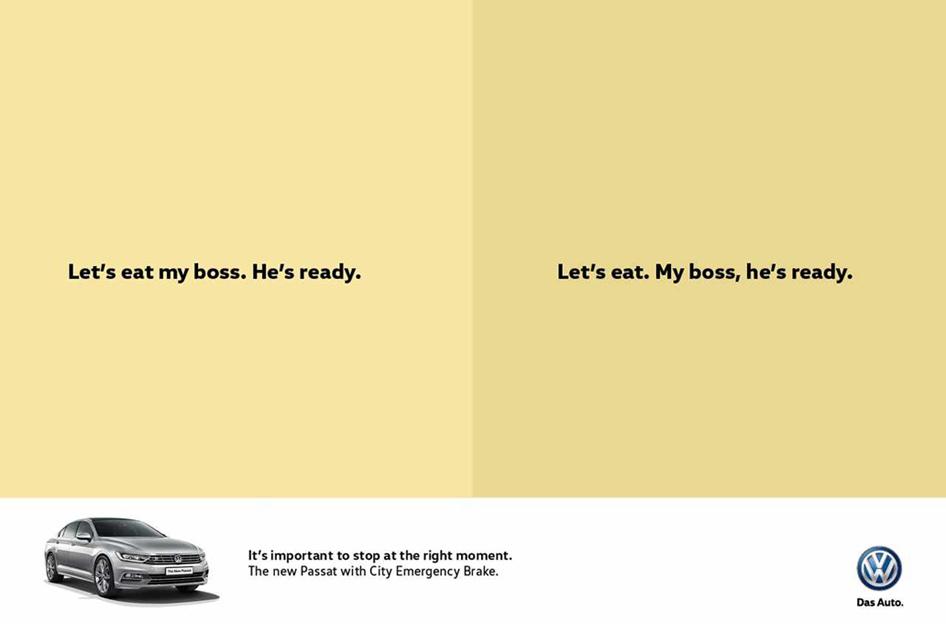 Joe La Pompe advertising, publicité   Ponctuation matters / La