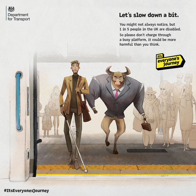 A buffalo entering the metro / Pousse-toi de là, c'est ma créa!